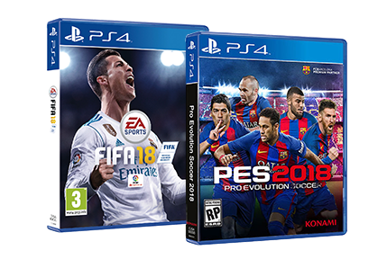 FIFA 18 ou PES 18